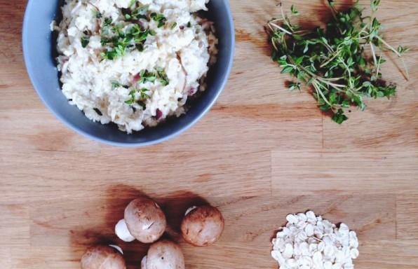 Savoury Mushroom Cauliflower Oatmeal